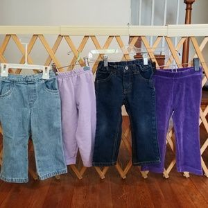 Girls 2t pants lot